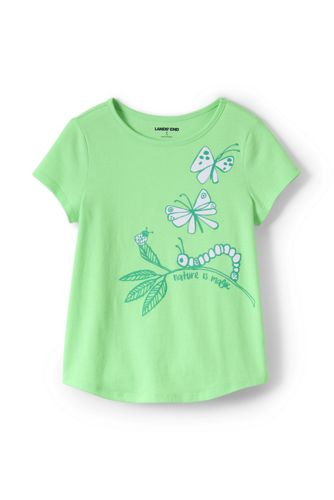 Girls' Cotton T-shirt With 'Sun-reactive' Graphic