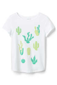 Little Girls Color Change Graphic Tee Shirt