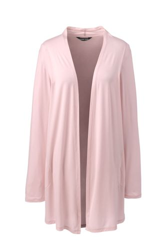 Women's Petite Long Jersey Cardigan