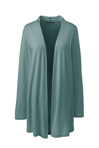 Women's Petite Long Jersey Cardigan