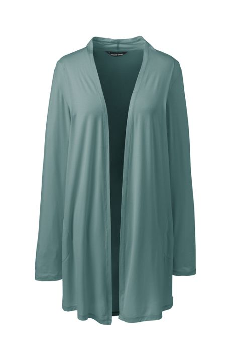 Women's Lightweight Jersey Knit Long Cardigan