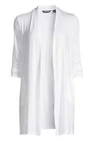 Women's Petite Lightweight Jersey Knit Long Cardigan