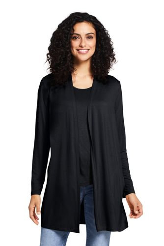 Cardigan Long en Jersey Stretch, Femme Stature Petite