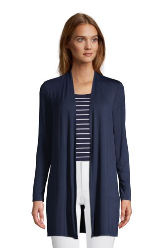 Women's Long Jersey Cardigan