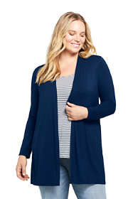 Women's Plus Size Lightweight Knit Long Cardigan