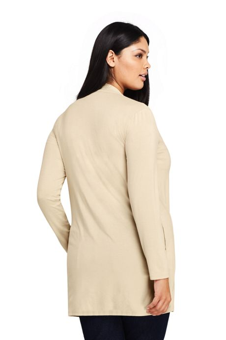 Women's Plus Size Long Sleeve Knit Cardigan