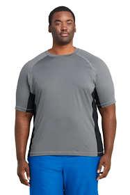 Men's Big and Tall Short Sleeve Swim Tee Rash Guard