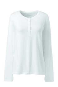 Women's Petite Lightweight Long Sleeve Henley Sleep Top