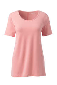 Women's Plus Size Short Sleeve UPF Wicking T-Shirt Pinstripe