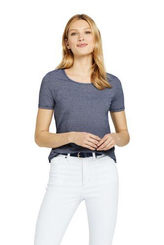 adab3c12a2d12 Women's Essential Stripe T-shirt | Lands' End