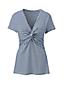 Women's Plus Stripe Cotton-modal Knot Front T-shirt