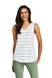 d3c53b7aed2af Women s Stripe Slub Jersey V-neck Tank Top