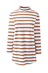 Women's Tall 3/4 Sleeve Stripe Mock Tunic