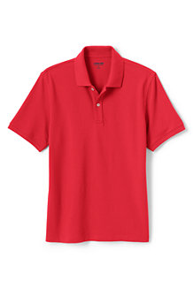 Men's Stretch Piqué Polo Shirt, Tailored Fit