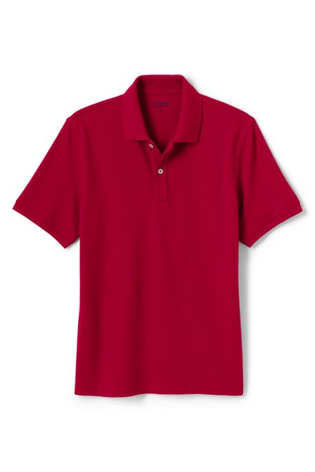 Men's Tailored Fit Short Sleeve Comfort First Solid Mesh Polo