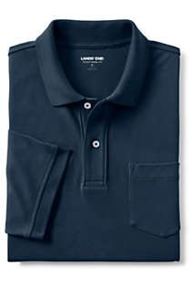 Men's Short Sleeve Comfort First Solid Mesh Polo With Pocket, alternative image