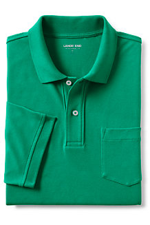メンズ・ヘリテージ・ポロ/ストレッチ/無地/ポケット付き/半袖