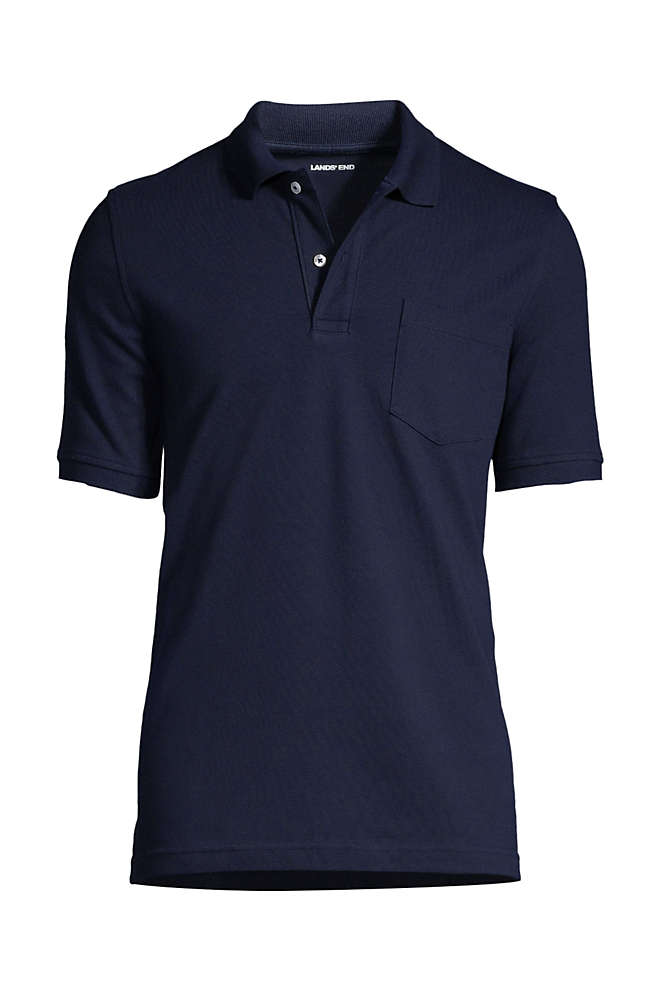 Men's Short Sleeve Comfort First Solid Mesh Polo With Pocket, Front