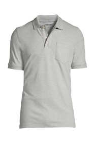Men's Short Sleeve Comfort First Solid Mesh Polo With Pocket