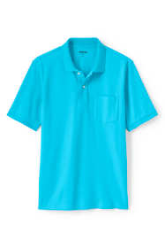 Men's Tall Short Sleeve Comfort First Solid Mesh Polo With Pocket
