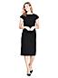 レディス・美型シルエット・ウォッシャブル・ウール・身長別ドレス/ペティート/半袖