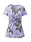 T-Shirt Noué Imprimé en Coton Modal Stretch, Femme Stature Standard
