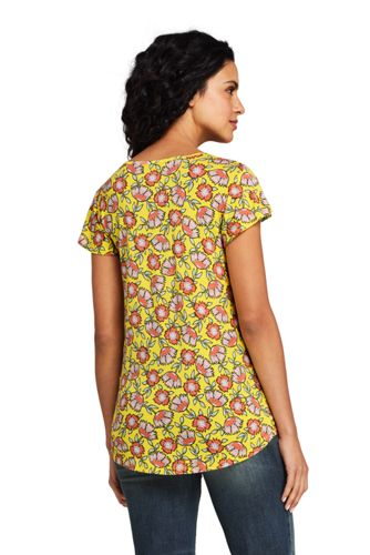 Lands' End - Print Flutter Sleeve Smock Top - 2