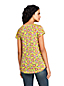 Women's Print Flutter Sleeve Smock Top