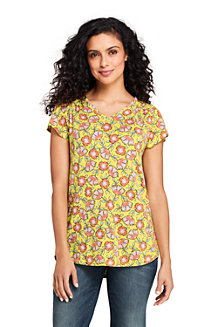 Women's Print Flutter Sleeve Smock Top