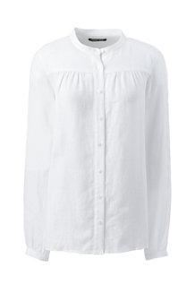 Chemise en Lin à Manches Longues, Femme