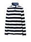 Women's Petite Breton Stripe Button Polo Neck Top