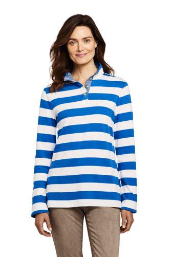 Langes Sweatshirt mit Stehkragen für Damen in Petite-Größe