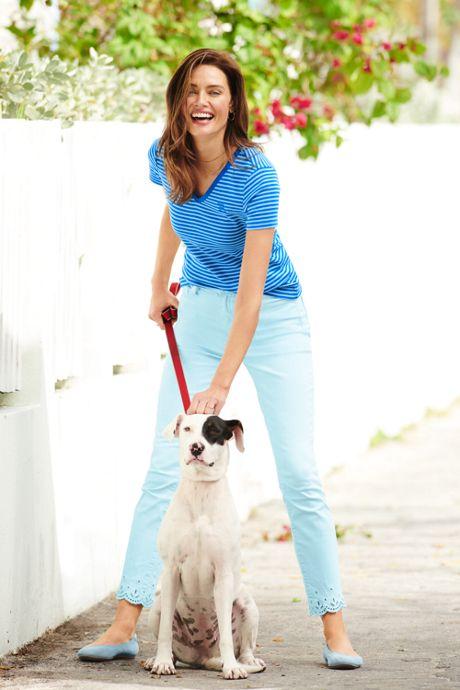 Women's Stripe All Cotton Short Sleeve T-shirt Rib Knit V-neck