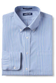 Men's Big and Tall Traditional Fit Pattern No Iron Supima Pinpoint Comfort Collar Shirt