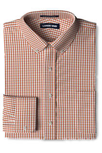 Men's Traditional Fit No Iron Supima Pinpoint Comfort Collar Shirt, Front