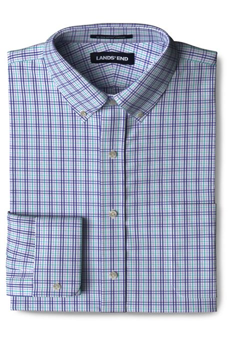 Men's Big and Tall Traditional Fit No Iron Supima Pinpoint Comfort Collar Shirt