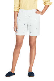 "Women's Petite Mid Rise 7"" Chino Shorts - Sailboats"