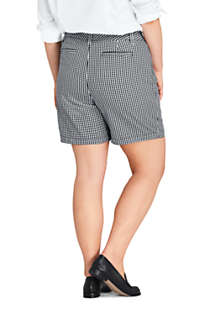 "Women's Plus Size Mid Rise 7"" Chino Shorts, Back"