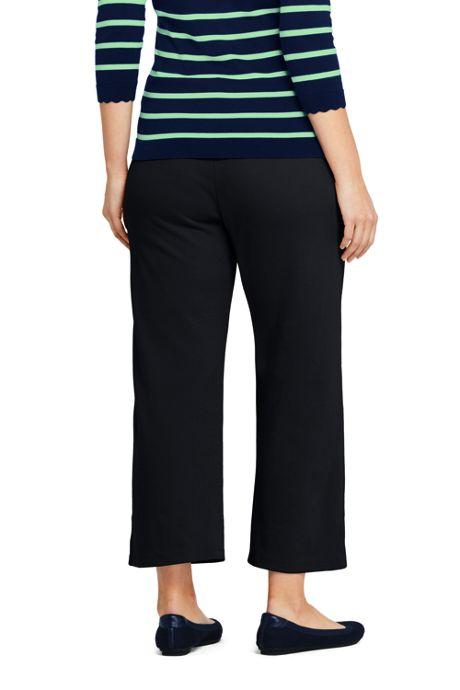 Women's Plus Size Sport Knit Wide Leg Crop Pants