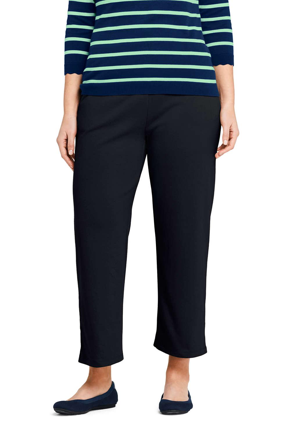 7b4f2684d60c Women's Plus Size Sport Knit Wide Leg Crop Pants from Lands' End