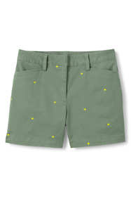 "Women's Mid Rise 5"" Chino Shorts - Embroidered"