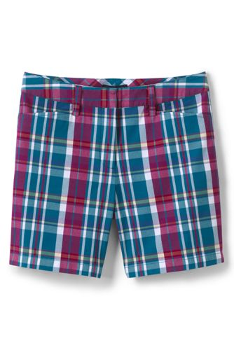 Women's Patterned Mid Rise 7″ Chino Shorts