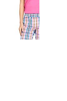 Madras-Shorts mit Stretch für Damen, 18 cm