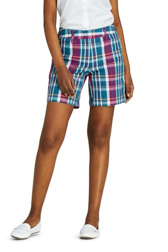Madras-Shorts mit Stretch für Damen, 18 cm