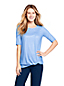 T-Shirt Long Imprimé Active Wear Ourlet Noué, Femme Stature Standard