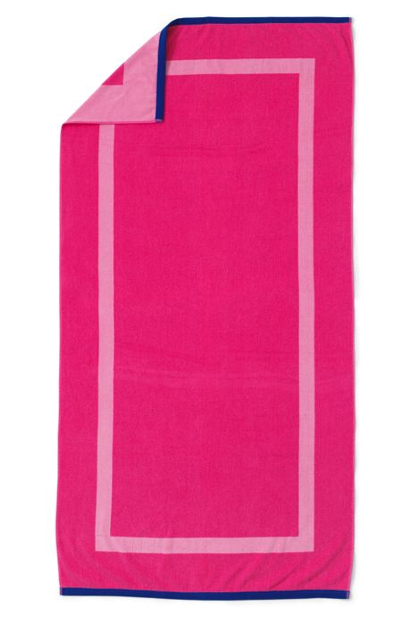 School Uniform Adult Solid Reversible Beach Towel