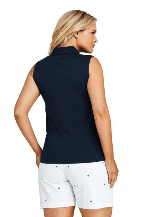 Women's Plus Size Sleeveless Supima Cotton Polo