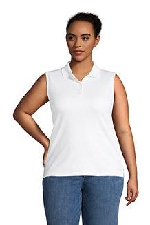 Women's Sleeveless Polo Shirt in Supima Cotton