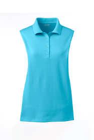 Women's Petite Sleeveless Supima Cotton Polo Shirt