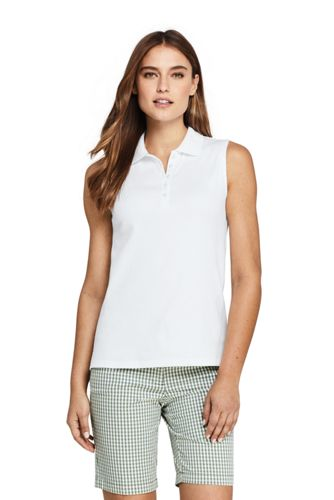 650db092b35a40 Women s Sleeveless Supima Cotton Polo Shirt from Lands  End